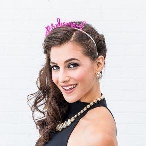 Pink Bridesmaid Bachelorette Party Headband