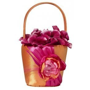 Hot Pink & Orange Flower Girl Basket