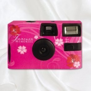 Pink Paradise Disposable Wedding Camera