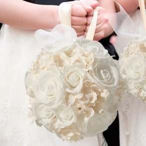 Ivory Flower Kissing Ball