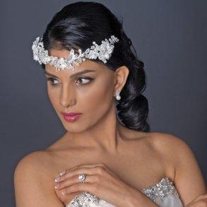 Ivory Floral Lace Bridal Headband