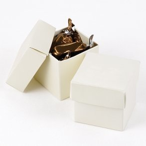 Ivory Shimmer Favour Bomboniere Boxes