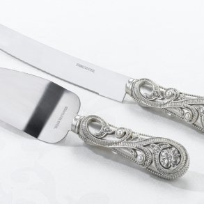 Jewelled Cake Knife Serving Set
