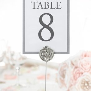 Jewelled Table Number Holder - Pack of 4
