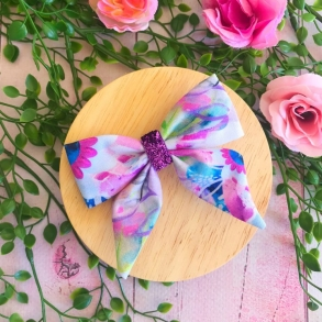 Colourful Kaleidoscope Girls Hair Bow Clip or Headband