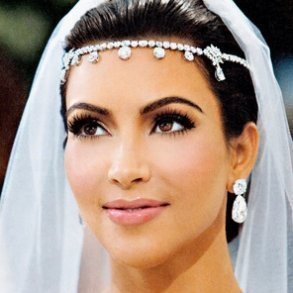 Silver Kim Kardashian Inspired Bridal Headpiece