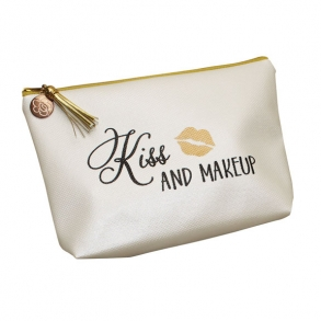 Kiss And Makeup Cosmetic Bag - Bride Gift