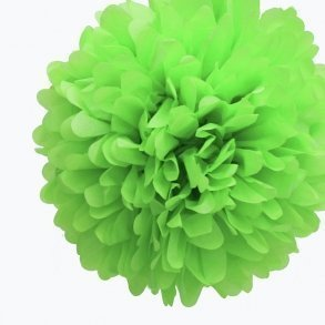 Kiwi Green Mini Tissue Paper Pom Poms - Pack of 8