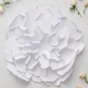 Large DIY Paper Peony Decor Flower White