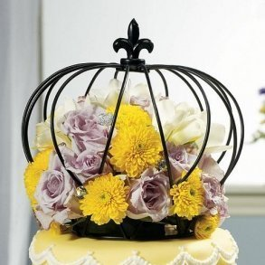 Large Wire Crown Cake Topper