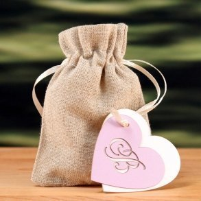 "Laser Expressions Heart Monogram ""Double-Luxe"" Favour Tag"
