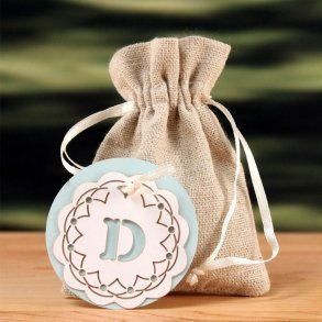 "Laser Expressions Crochet Monogram ""Double-Luxe"" Favour Tag"