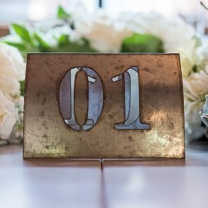 Laser Cut Self Standing Industrial Metal Table Numbers