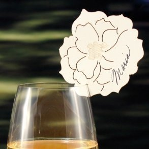 Laser Expressions Peony Die Cut Place Card