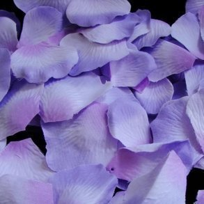 Lavender three-tone Silk Rose Petals - 100 Petals