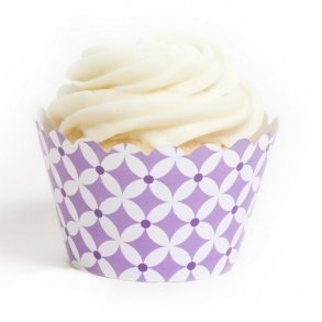 Lavender Diamonds Cupcake Wrappers - Pack of 12