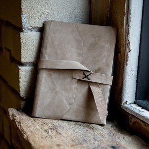 Industrial Style Leather Bound Journal Guest Book