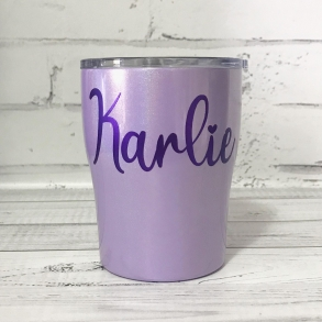 Lilac Shimmer Personalised Tumbler