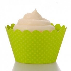 Lime Green Cupcake Wrappers - Pack of 12