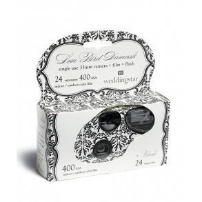 Single Use Camera Love Bird Damask Design