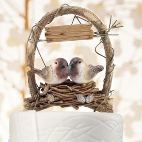 Love Nest Love Birds Cake Topper
