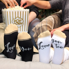 Mr & Mrs Love You Wedding Socks