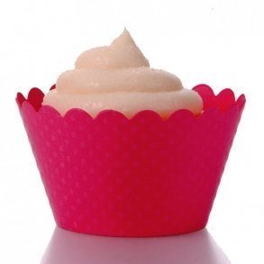 Magenta Pink Cupcake Wrappers - Pack of 12