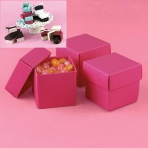 Magenta Pink Wedding Favour Bomboniere Boxes