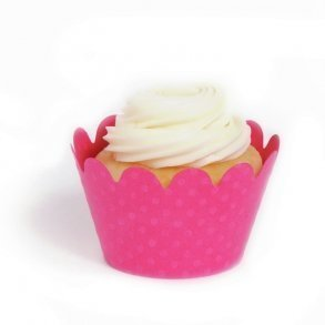 Magenta Mini Cupcake Wrappers - Pack of 18