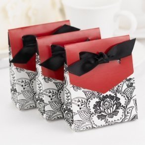 Floral Merlot Favour Boxes - Pack of 25