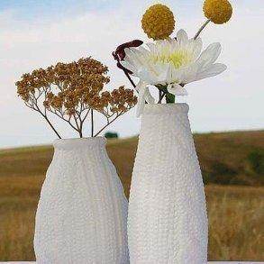 Mini Faux Knit Porcelain Vases