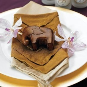 Miniature 'Good Luck' Wooden Elephant
