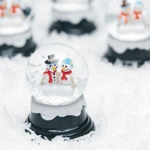 Miniature Winter Snowglobes