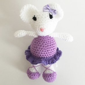 Monica The Purple Crochet Ballet Mouse