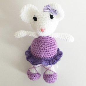 Monica The Purple Crochet Ballet Mouse