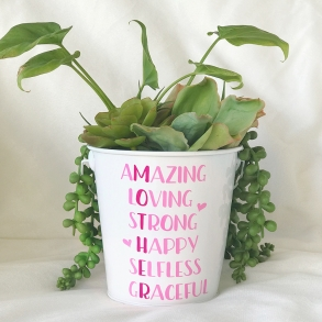 AMAZING Mother's Day Metal Pot Plant