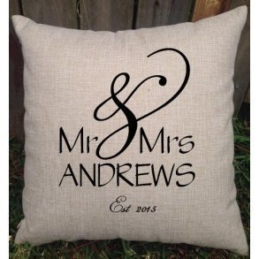 Mr & Mrs Custom Designed Wedding Cushion