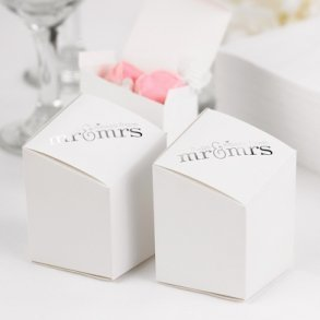Mr & Mrs Prism Favour Boxes