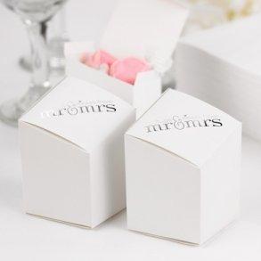 Mr & Mrs Prism Favour Boxes