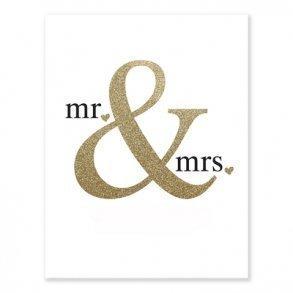 Mr & Mrs Art Print Guest Book Alternative