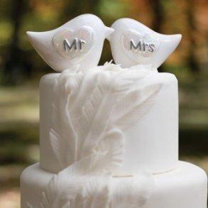 Mr & Mrs Love Birds Cake Topper