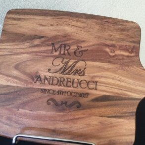 Mr & Mrs Personalised Timber Chopping Board