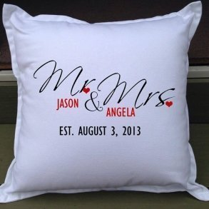 Mr & Mrs Personalised Wedding Gift Pillow