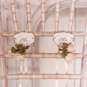 Mr & Mrs Shabby Chic Hook Set