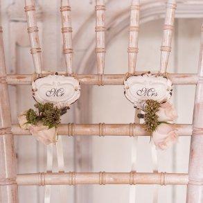 Mr & Mrs Shabby Chic Hook Set