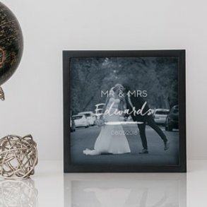 Personalised Mr & Mrs Shadow Box Keepsake Frame