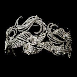 Antique Silver Multi Cut Rhinestone Headpiece