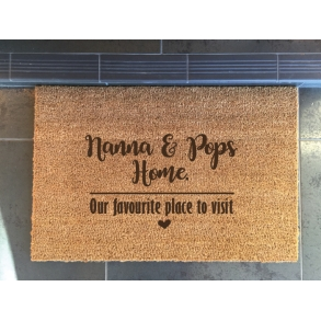 Grandparents Home Away From Home Custom Etched Doormats
