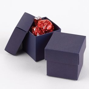 Navy Wedding Favour Bomboniere Boxes