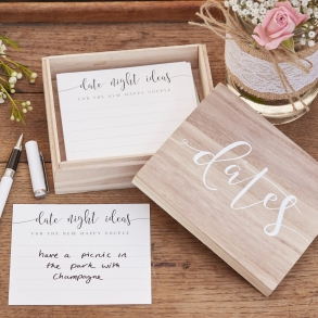 Newlywed Date Suggestion Ideas Wooden Box